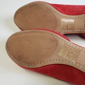 Dolce Vita Shoes - Dolce Vita Laci Dorsay Red Flats Shoes Size 8